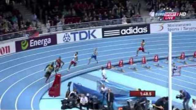 Men's 4*400m Heat1 IAAF World Indoor Champs Sopot 2014
