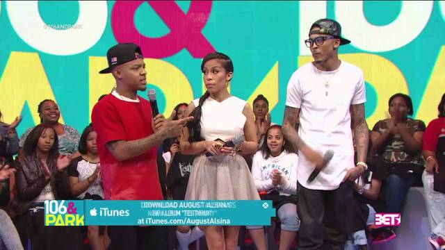 106 & Park August Alsina Snaps, Goes Off. About Trey Songz! [New 2014]