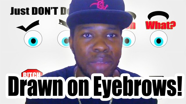 Drawn on Eyebrow! – @Kevin2wokrayzee