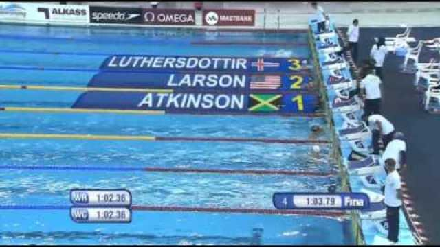 Alia Atkinson wins Women's 100m Breaststroke Final FINA Swimming 2014