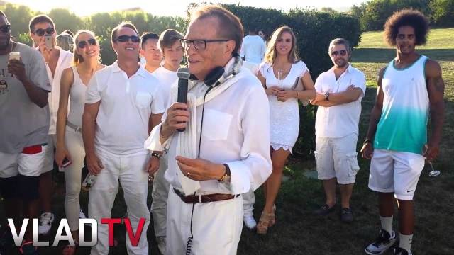 Larry King Introduces 2 Chainz at Treats Mag Party