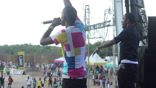 Chozenn & Omari Performing at Lime Skool Aid