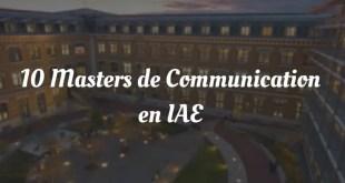 Les 10 masters de communication en IAE