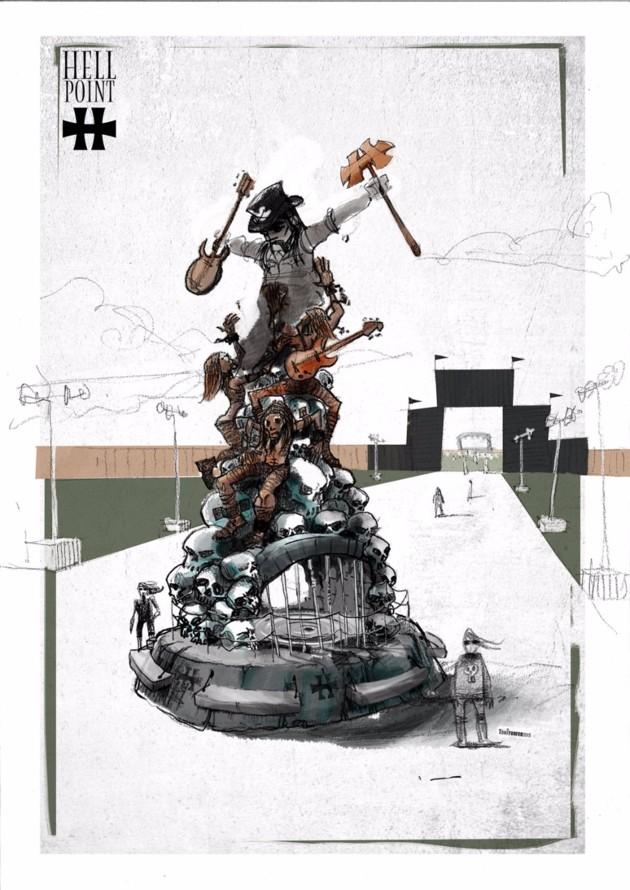 Hellfest 2016 : Une statue pour Lemmy dans la Warzone !