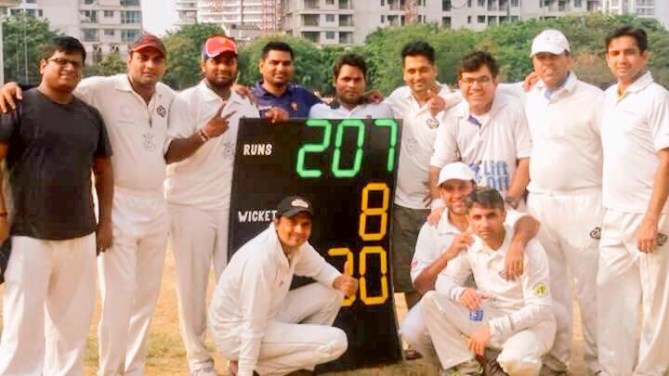 Newcomer, Vasu shines as WPP India XI beat Jakarta Barbarians by 2 wickets.