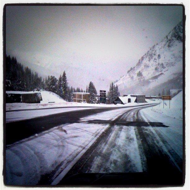 Snowing at Alta