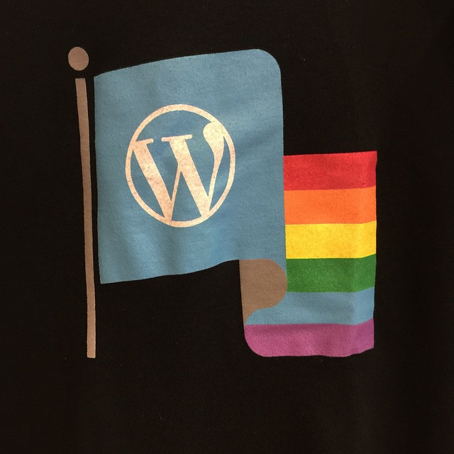 Stoked about my new WordPress t-shirt. #wcsf14
