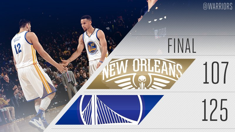 RT @warriors: 60-6, #DubNation! https://t.co/wrvcK9uH1V