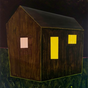 hájovna 2 / gamekeeper's house, 130x135 cm, akryl na plátně / acrylic on canvas, 2015