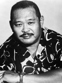 Harold Sakata in a publicity portrait from the television series 'Sarge', 1972. (Photo by NBC/Tribune/Getty Images)