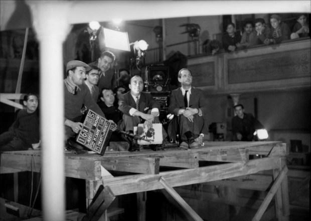 On the set of Marcel Carne's Les Enfants De Paradis, 1945.