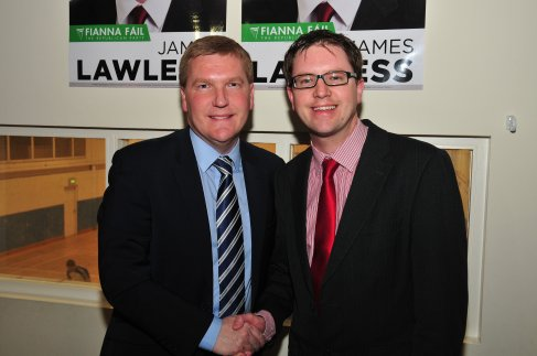 James Lawless with Michael McGrath