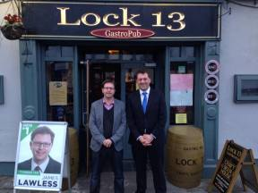 James Lawless with Senator Thomas Byrne in Sallins
