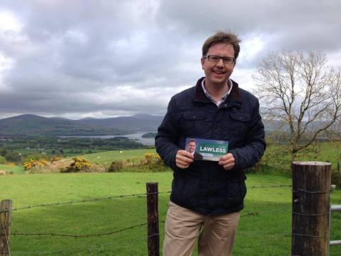 James Lawless at the Kildare-Wicklow border