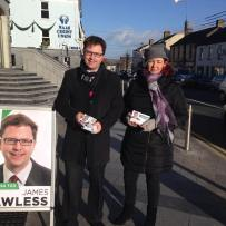 James Lawless canvassing Naas