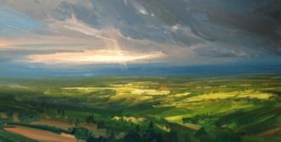 Last Light, Oil_38x20cm
