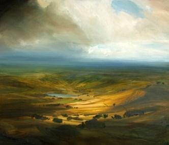 Warm Light Valley, Oil,, 98x83cm