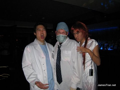 Doc, MuM and Myself - the ONLY ones dressed up for the theme night at Sapphire Lounge.