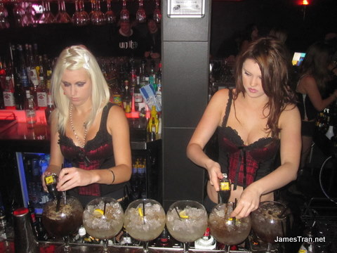 Sin City Nightclub Surfers Paradise: Sultry waitresses and alcohol = win!
