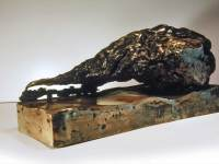 """Power of Pollution, 8"""" x 13"""" x 6"""", lost wax bronze casting"""