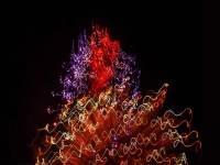 Pyroglyph 5608, enhanced photograph of fireworks display