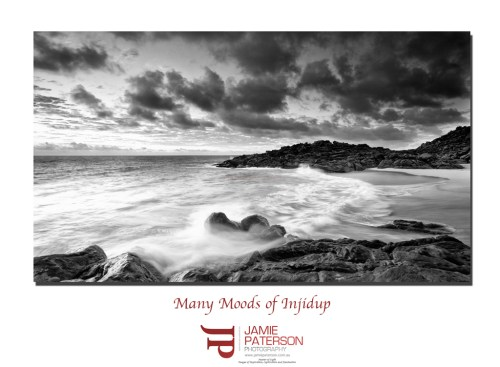 injidup beach, black and white photography, australian landscape photography, seascape photography
