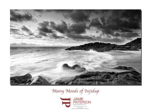 injidup beach, black and white photography, australian landscape photography, seascape photography