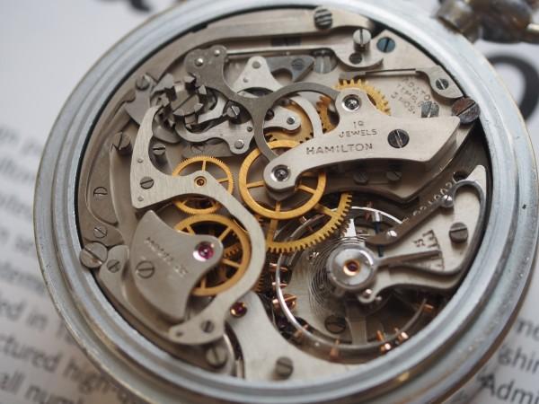 ハミルトン 懐中時計 ミリタリー