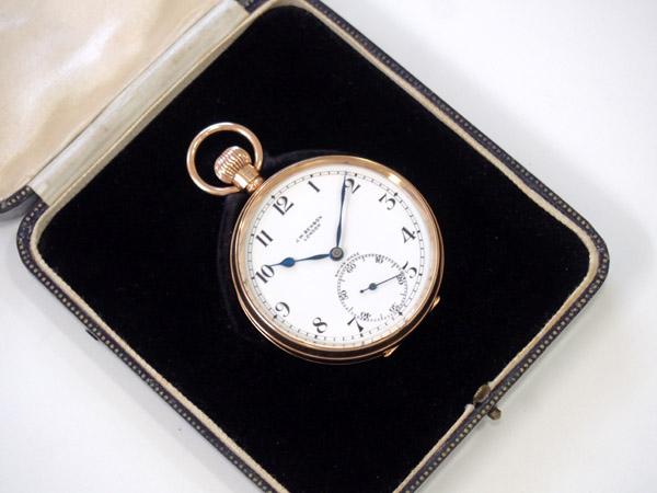 J.W.ベンソン 金無垢 ローズゴールド ポケットウォッチ アンティーク 懐中時計