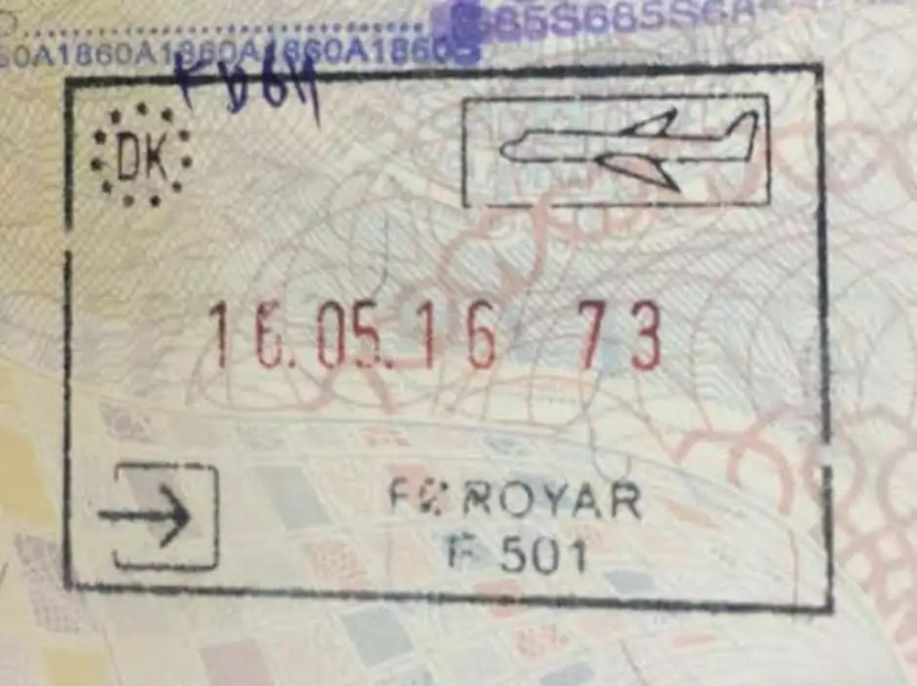 01 Faroe Islands Passport Stamp
