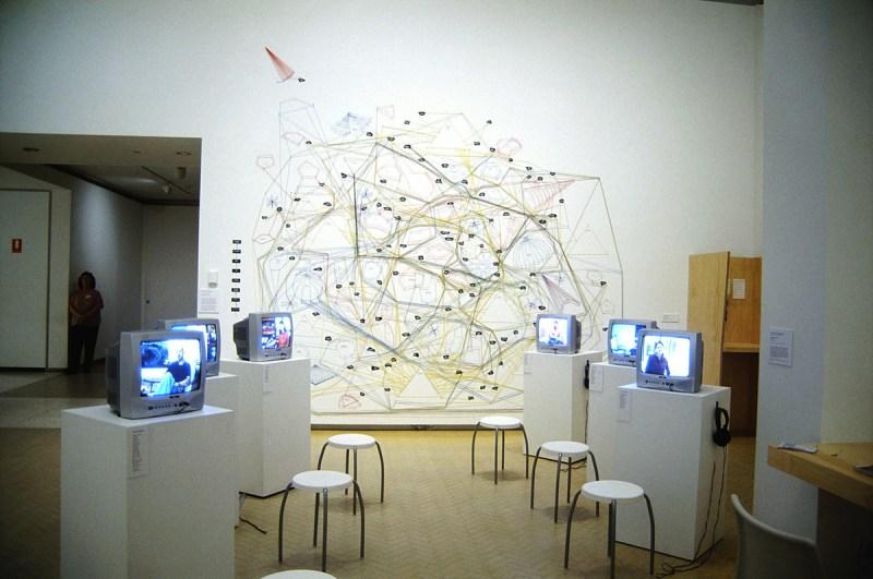 Artist Archive, 2005. Anne Kay & Jane Polkinghorne, MCA Sydney. Installation view