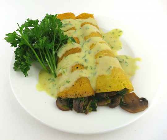 Paleo Chicken or Turkey Crepes with Tarragon