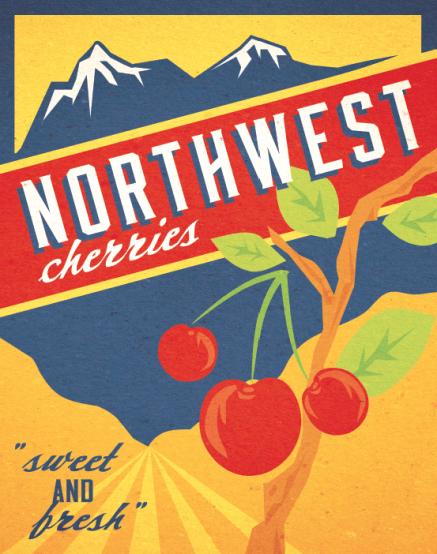 northwest fruit poster