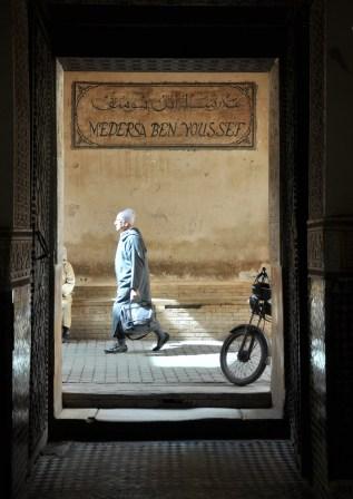 Medresa Ben Youssefa - jedna z najsłynniejszych, najstarszych i najbardziej znanych szkół koranicznych w Maroko. XI-XII w.