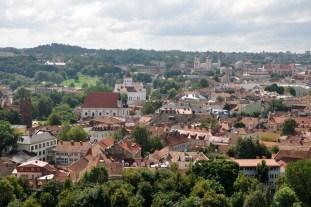 Stare Wilno. Podobno największa w Europie Środkowowschodniej barokowa Wileńska Starówka (360 ha).