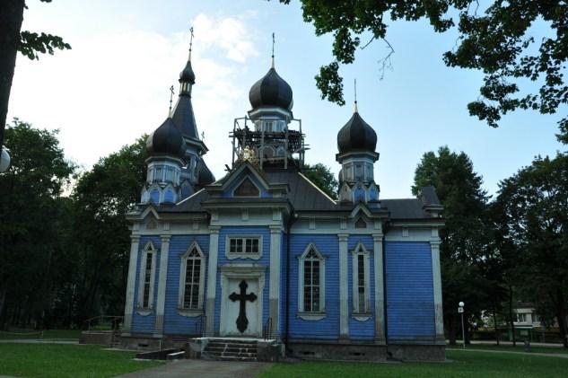"""Drewniana cerkiew Ikony Matki Bożej """"Wszystkich Strapionych Radość"""" (1865r.)."""