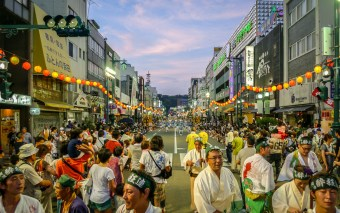 Awa Odori in Tokushima is Held August 12-15 Every Year