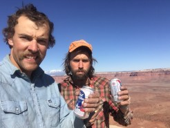 Jake and I on the summit of North Six Shooter, Indian Creek, UT