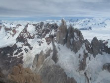 The Torre massif as seen from high on Fitz Roy
