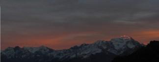 Sunset from Col du Jorat, Swiss Alps