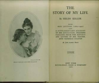 'La historia de mi vida' con un retrato de Helen Keller y Anne Sullivan