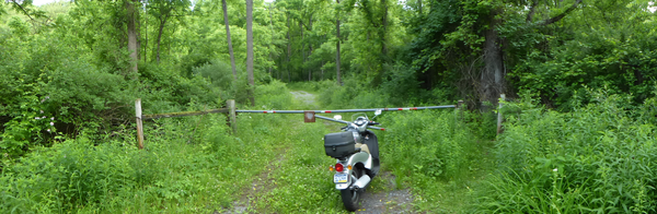 Here endeth the path. At least on the scooter.