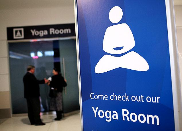 San Francisco Airport Yoga Room