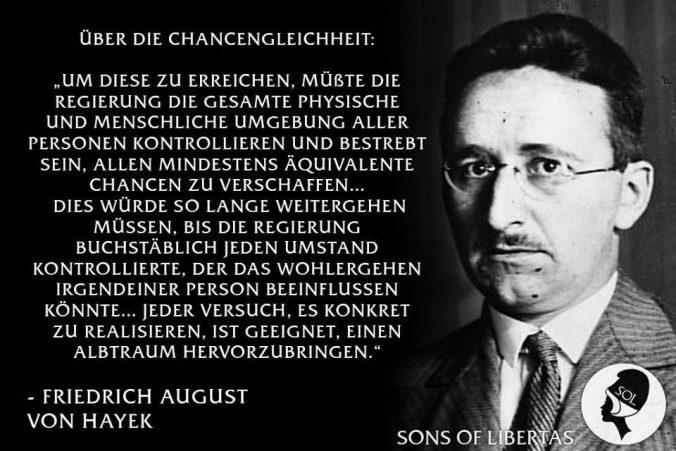 August von Hayek Zitat