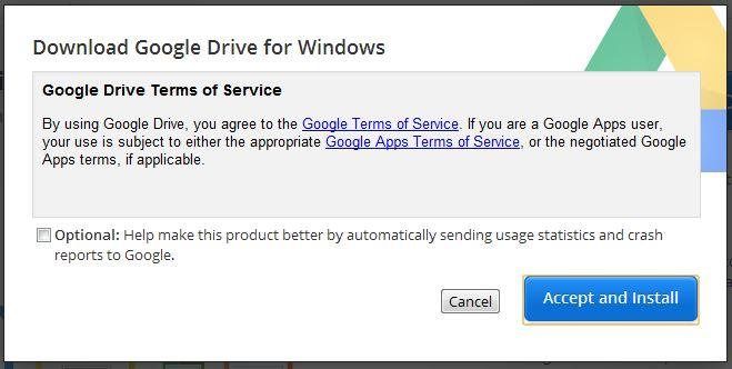 Google Drive setup