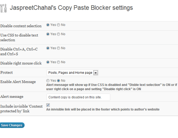 jcwp copy paste blocker options