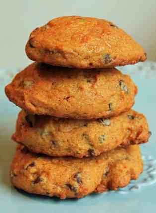 Pumpkin Chocolate Chip Cookies | JavaCupcake.com