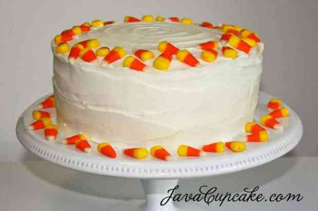 Candy Corn Cake by JavaCupcake.com