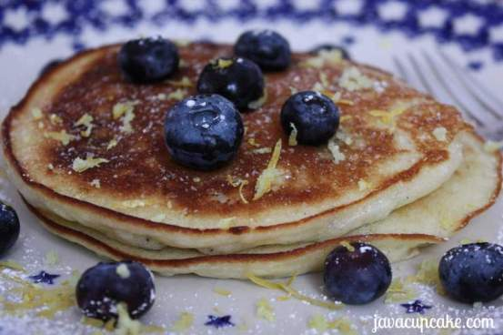 Lemon Blueberry Pancakes by JavaCupcake 2