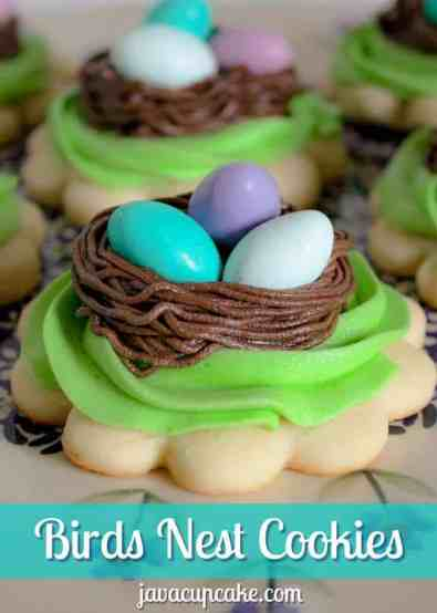 Birds Nest Cookies by JavaCupcake.com